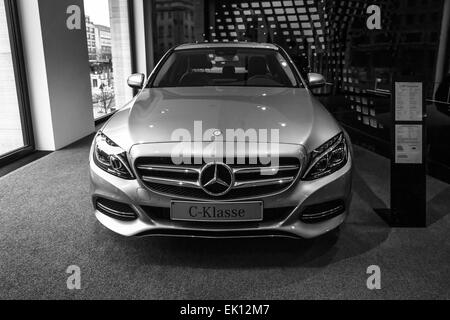 compact executive car mercedes benz c250 cabriolet w205 2016 stock photo royalty free image. Black Bedroom Furniture Sets. Home Design Ideas