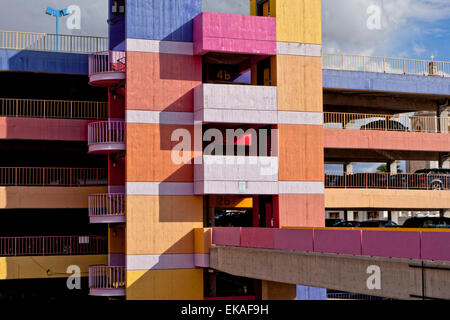 Colorful Parking Garage - Stock Photo
