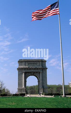 Valley Forge Pennsylvania National Memorial Arch Erected To Stock Photo Royalty Free Image