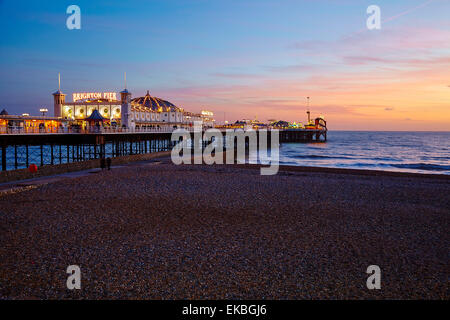 Brighton Pier, Brighton, Sussex, England, United Kingdom, Europe - Stock Photo