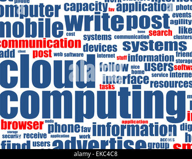 cloud computing - word background - Stock Photo