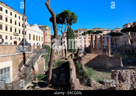Italy Rome Largo di Torre Argentina - Stock Photo