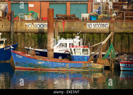 Oyster fishing boats moored on the fal river near truro in for Fishing docks near me