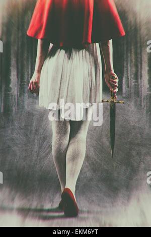 Female assassin - Stock Photo