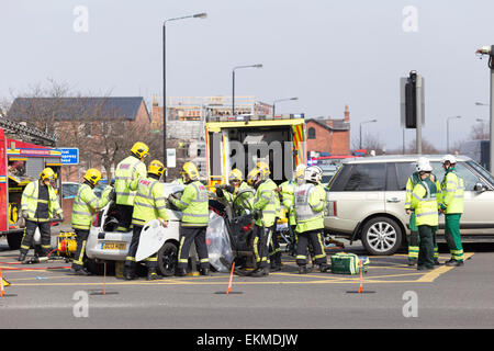 Road Traffic Accident Between Car And Motorcycle In