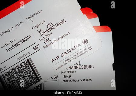 air canada boarding passes for frankfurt flights stock. Black Bedroom Furniture Sets. Home Design Ideas