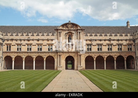 Part of the Canterbury Quad (Quadrangle) in St. John's College, University of Oxford, Oxford, Oxfordshire, UK. - Stock Photo