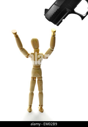 Freeze hands up - Stock Photo