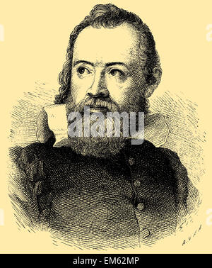 Galileo Galilei (1564–1642), astronomer, philosopher, and physicist - Stock Photo