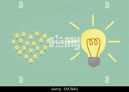 Many small ideas equal a big one idea , eps10 vector format - Stockfoto