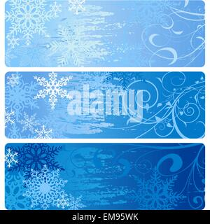 Winter Banners - Stock Photo