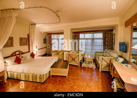 Typical african quality hotel room in the Impala Hotel, Arusha. - Stockfoto