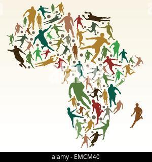 Soccer in Africa - Stockfoto