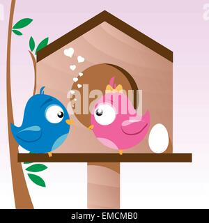 Birds in Love - Stock Photo