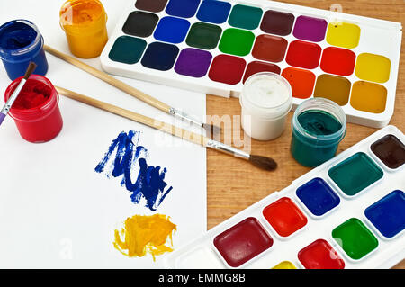 Paint and gouache - Stock Photo