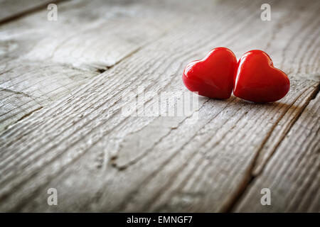 Two hearts in love - Stock Photo