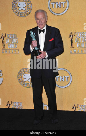 LOS ANGELES, CA - JANUARY 29, 2012: Christopher Plummer at the 17th Annual Screen Actors Guild Awards at the Shrine - Stock Photo