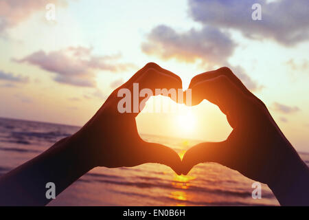 love on the beach - Stock Photo