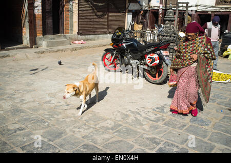 Street scene, Kathmandu, Nepal - Stock Photo