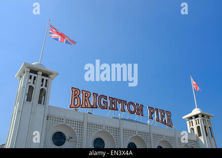 Brighton Pier. Brighton, East Sussex, England, UK - Stock Photo