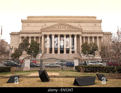 Washington, DC, USA. March 10,2015 . The United States National Archives on an overcast day - Stockfoto
