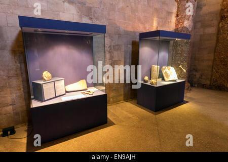 Italy, Apulia, Andria, Castel del Monte indoor - Stock Photo