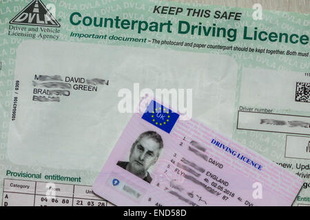 DVLA COUNTERPART DRIVING LICENCE RE DRIVERS MOTORING ...