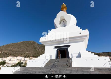 Benalmadena Pueblo, Costa del Sol, Malaga Province, Andalusia, southern Spain.  The Buddhist Enlightenment Stupa. - Stock Photo