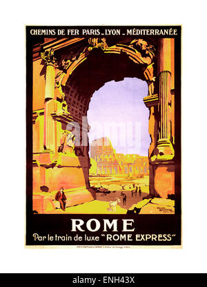 paris vintage travel poster 1920s 1940s stock photo. Black Bedroom Furniture Sets. Home Design Ideas