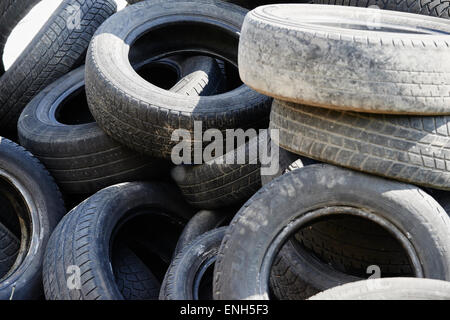 Old car tires tyres tire tyre cars rubbish tread worn out for Uses for old tyres