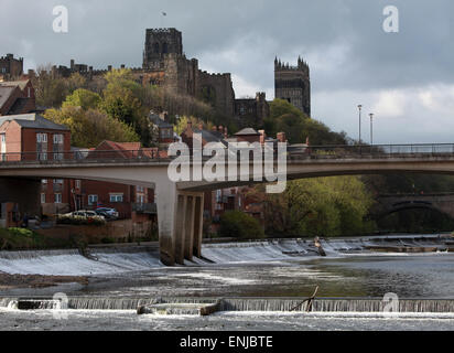 Durham Cathedral On The River Wear County Durham