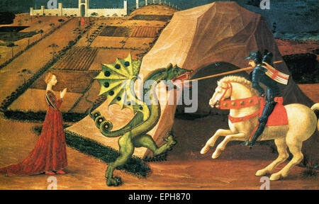 Paolo Uccello  St. George and the Dragon 2 - Stock Photo