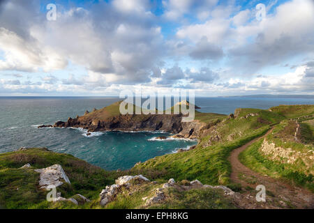 Pretty, rugged rocky coastline on Barbuda, Antigua and ...