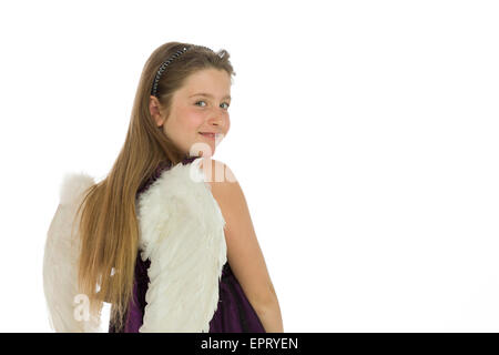 Model isolated on plain background in studio - Stockfoto