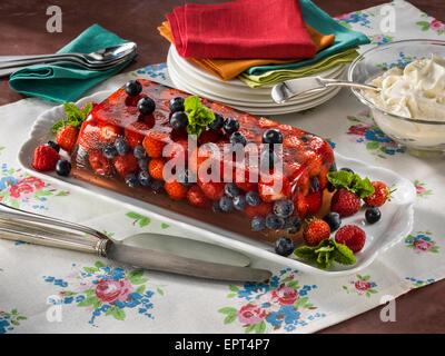 Fresh berry terrine Stock Photo, Royalty Free Image ...