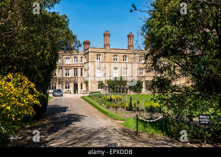 The Master's Lodge at Jesus College, a college of the University of Cambridge - Stock Photo