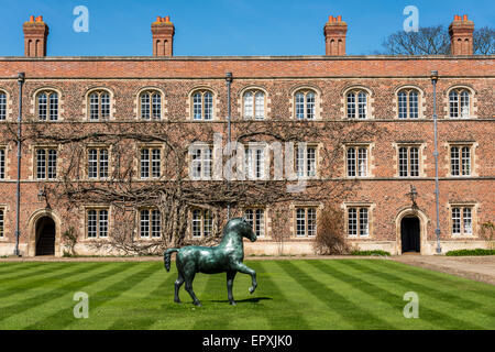 Jesus College is a college of the University of Cambridge - Stock Photo