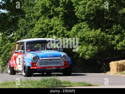 Old Classic Mini Car Outside Malta Classic Car Collection