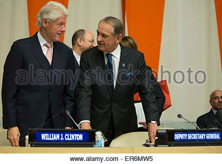United Nations, New York, USA. 28th May, 2015. President Bill Clinton, Founder of the Clinton Foundation and 42nd - Stock Photo