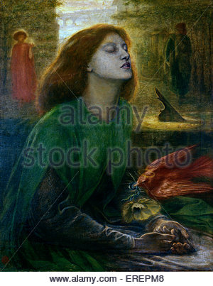 Beata Beatrix by Dante Gabriel Rossetti,  c.  1864-70.  Oil on canvas; support: 864 x 660 mm frame. DGR: English - Stock Photo