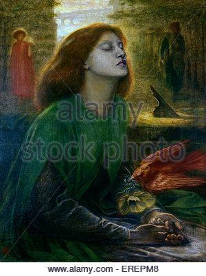Beata Beatrix by Dante Gabriel Rossetti,  c.  1864-70.  Oil on canvas; support: 864 x 660 mm frame. DGR: English - Stock Photo