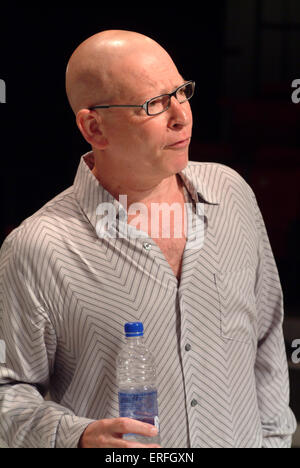 Six Pictures of Lee Miller - director Anthony van Laast on stage of the musical by Jason Carr (music and lyrics). - Stock Photo