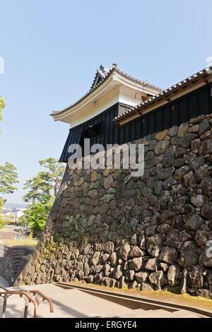 Taiko Yagura turret of Matsue castle (circa 1611) in Matsue, Shimane prefecture, Japan. National Historic Site - Stockfoto