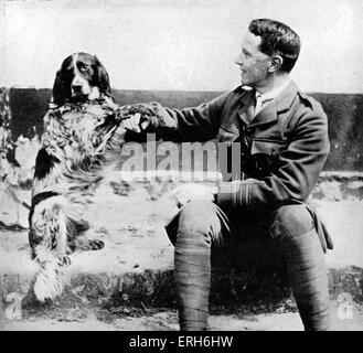 John McCrae - Canadian World War I poet and surgeon during the Second Battle of Ypres. Member of Canadian Expeditionary - Stock Photo