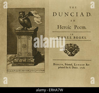 the dunciad as a political satire by alexander pope The acknowledged master of the heroic couplet and one of the primary tastemakers of the augustan age, alexander pope was a central figure in the neoclassical movement of the early 18th century.