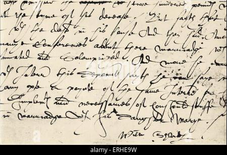 William Shakespeare - signature. English playwright, 1564-1616 - Stock Photo