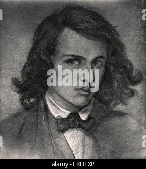 Rossetti, Dante Gabriel or Gabriel Charles Dante Rossetti - English poet, painter and translator 1828-1882.  Self - Stock Photo