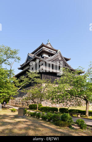 Main keep (donjon) of Matsue castle (circa 1611) in Matsue, Shimane prefecture, Japan. National Historic Site - Stockfoto