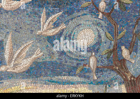 Mosaic tile background. Mosaic wall in modern style. - Stock Photo