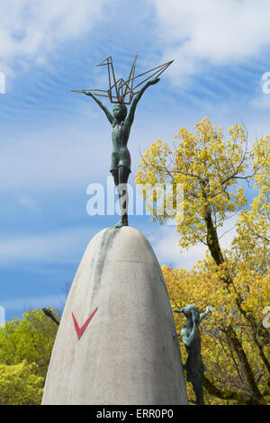 Childrens Peace Monument in Hiroshima, Japan. Commemorates Sadako Stock Photo...